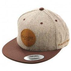 8180308563876 Boné Globe LOCK UP FLAT BRIM Chocolate