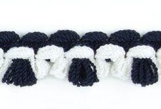 "Fashion Trim, 5/8"" Black and Charcoal Wool   Britex Fabrics"
