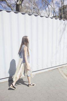 Maki Oh DOUBLE DRESS WITH FRINGE, via MNZ