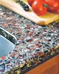 Attrayant Recycled Glass Counter Top Recycled Glass Countertops, Concrete Countertops,  Kitchen Countertops, Countertop Materials