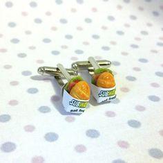 Miniature Food Subway Sandwich Cufflinks by qminishop on Etsy