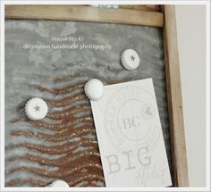 House No. 43: die andere Pinnwand mit DIY Magneten / pinnboard with diy magnatic