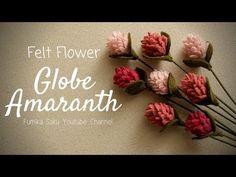 How to Make Felt Flower : Globe Amaranth - Modern Design Faux Flowers, Diy Flowers, Fabric Flowers, Paper Flowers, Felted Flowers, Felt Crafts Diy, Felt Diy, Ribbon Flower Tutorial, Bow Tutorial