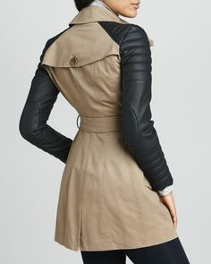 Trench Coat With Leather