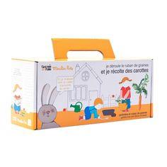 Avec cette jardinière de carottes, vos enfants pourront faire pousser des carottes. Afin de venir en complément de cette activité ludique et pédagogique, un cahier d´activités est également mis à disposition.