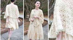 50s  Whipped Cream Topping  cream colored lace by ForgottenMuse, $42.00