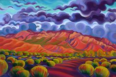 "Tracy Turner New Works Gallery Sandia Sunset 24""x 36"" oil on linen original art sold Giclee print available"