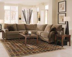 Doss Fabric Microfiber Sectional Sofa 4 Piece Left Arm