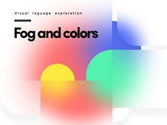 Fog and Colors designed by Evgeniy Kazinec. Connect with them on Dribbble; Web Design, Graphic Design Trends, Graphic Design Posters, Graphic Design Illustration, Graphic Design Inspiration, Typography Design, Layout Design, Branding Design, Design Packaging