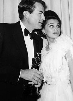 Gregory Peck and Sophia Loren, 1963