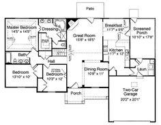 Craftsman Floor Plan - Main Floor Plan Plan #46-542