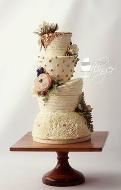 Fondant Flinger; 48 Eye-Catching Wedding Cake Ideas