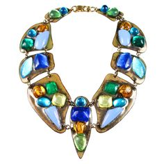 Ruth Buol Enamel Collar Necklace. 1970's