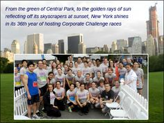 Hearst employees get ready for yesterday's J.P. Morgan Chase Challenge in New York