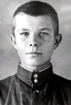 Yuri Gagarin (1934 – 1968), a Russian cosmonaut, the first human in space, as a student of the Lyubertsy Technical School №10, where he got his professional education as a steel worker. 1950. #Russian #cosmonaut #Yuri_Gagarin