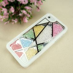 Amazon.com: Unsymmetrical Division with Multicolor Rhinestones Case for iPhone 4/4S: Cell Phones & Accessories
