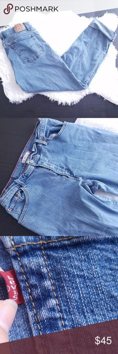 """Levis 550 high waisted mom jean tapered leg 14L Levis 550 high waisted mom jeans relaxed tapered leg 14L  16"""" across the waist 11"""" rise 32"""" inseam 41"""" long   These are not a vintage fit.  They are long but if you're looking to roll them up, it shouldn't be a problem. Levi's Jeans"""