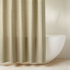 Chambray Shower Curtain - Casaluna™ : Target Wooden Bathroom Accessories, Home Air Fresheners, Striped Shower Curtains, Curtain Accessories, Curtain Patterns, Shower Curtain Rings, Curtains With Rings, House Prices, Bedding Sets