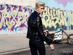Lucky Blue Smith: The Platinum Blonde Mormon Taking Male Modeling By Storm Best Mens Leather Jackets, Baby Hair Growth, Lucky Blue Smith, Cool Blonde, Blonde Guys, Platinum Blonde Hair, Pale Skin, Male Models, Manish