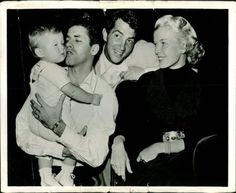 Jerry Lewis holding Dino Jr. with Jeannie Martin And Dean Martin--  UPLOAD by: Michel Reno