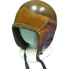 1930's GLOBE Leather Football Helmet