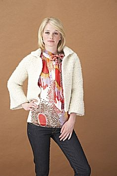 Knitting Pattern Boxy Jacket : Knitting - Jackets on Pinterest Knit Patterns, Jacket Pattern and Cropped J...
