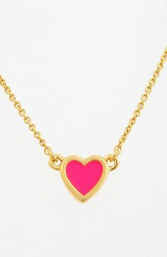kate spade new york 'be mine' heart pendant necklace available at #Nordstrom