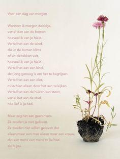 Aan de muur - Poëzieposters - poëzieposter met gedicht Voor een dag van morgen van Hans Andreus