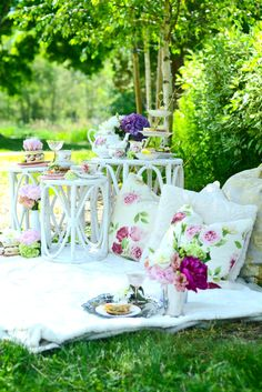gather your girlfriends for a casual spring tea party in the park