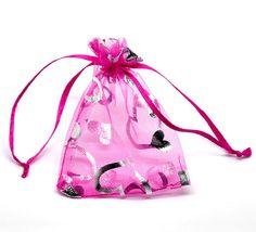 100pcs  Gift Bag  Organza Bag  Pink Heart Design by HDSupplies, $13.00