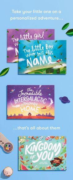 Beautifully-illustrated adventures for children – personalized from top to toe.