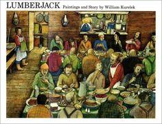 The Art of Children's Picture Books: Lumberjack, William Kurelek Lead Kindly Light, William Kurelek, Children's Picture Books, Camping Life, Winter Wonderland, Pictures, Etsy, Vintage, Lake Superior
