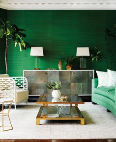 DOMINO:A Lesson In Decorating With Emerald Green