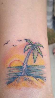 Google Image Result for http://www.ratemyink.com/images/ul/127/Beach-Sunset-with-Palm-Tree-tattoo-127399.jpeg