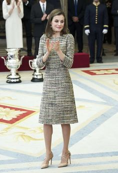 King Felipe VI and Queen Letizia of Spain, Former King Juan Carlos, Queen Sofia of Spain and Princess Pilar of Borbon attend the National Sports Awards 2015 ceremony at the El Pardo Palace on January 23, 2017 in Madrid, Spain.