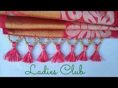 How to Make Saree Kuchu/Tassels with Beads Design - 3 I Detailed Tutoria...