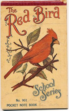 Collage Candy: Red Bird Notebook