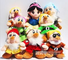 8 Pcs/Set Snow W Princess and the Seven Dwarfs Plush Toy Dolls Action Figure Children's Day Gift Sweetie Childhood Memory #Affiliate