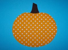 Fabric Applique TEMPLATE ONLY Pumpkin by etsykim on Etsy