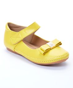 This Yellow Kiki Mary Jane by Kelly Kids is perfect! #zulilyfinds