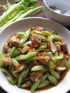 VEGETARIAN CHICKEN FRIED WITH CELERY