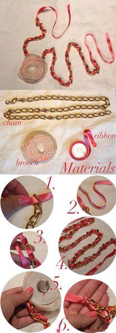 DIY Broach Necklace