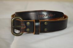 DSquared Brown Leather Belt size XL 40 to 42 New Brass Buckle D2 #Dsquared2