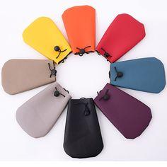 Candy Color Coin Purse Litchi pattern Leather Phone Pouch Mini Cute Wallet Shoulder Bag Women Men Purse For Girls