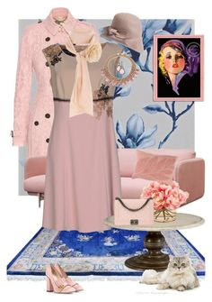 """""""la mode deco"""" by sarahrockwell ❤ liked on Polyvore featuring HARLEQUIN, Burberry, Gucci, Eric Javits, Bling Jewelry, Chelsea House, The French Bee, Home Decorators Collection, River Island and NOVICA"""