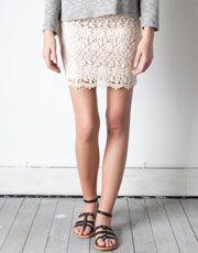 crotchet skirt. love ove.