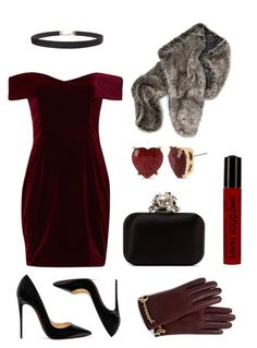 """""""mansion party"""" by mimiinc on Polyvore featuring Nicholas, Jimmy Choo, Betsey Johnson, Christian Louboutin, NYX, Humble Chic and Mulberry"""