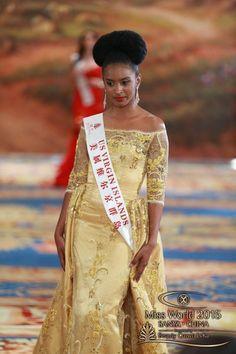 Miss US Virgin Islands 2015, Jahné Massac, in the World Fashion Designer Event