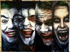 The Many Faces of The Joker! (Romero, Nicholson, Ledger, and Leto) #masterpiece