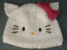 Beadwhore Knitting: Hello Kitty Hat